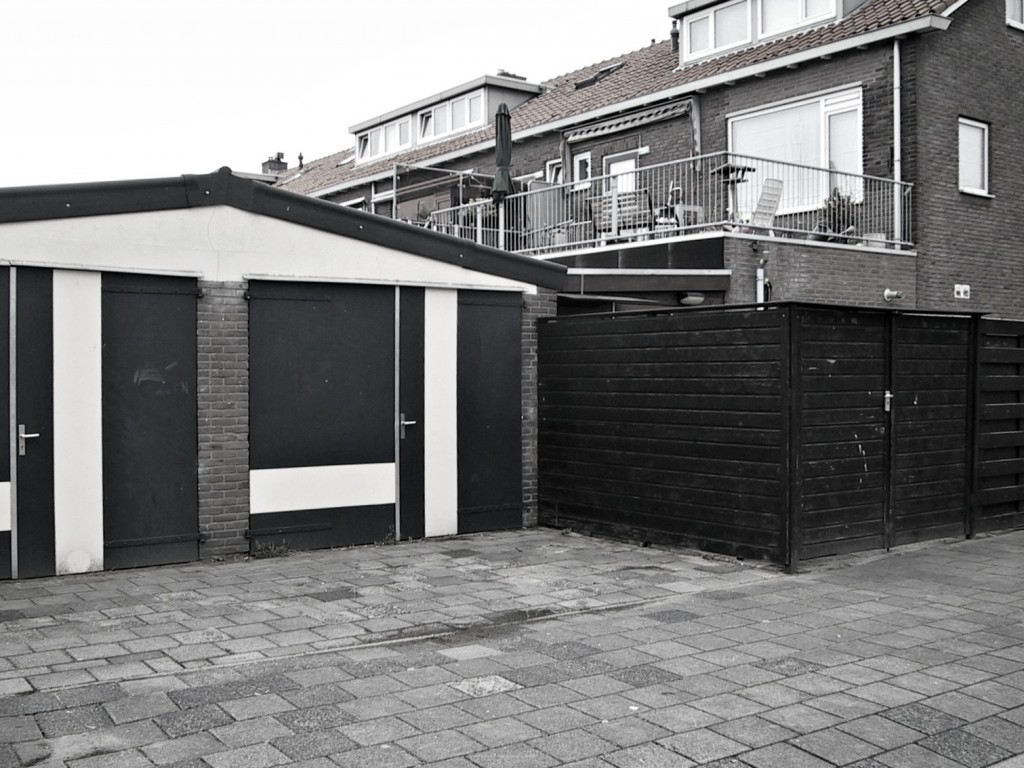 garage ieplaan blackwhite