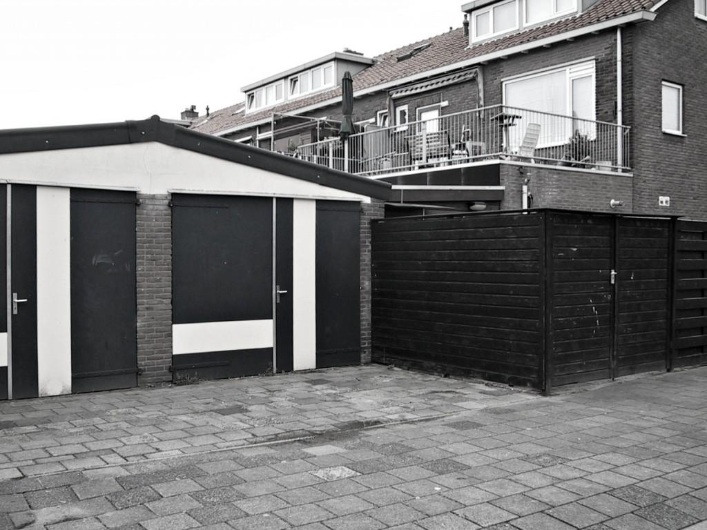 garage ieplaan blackwhite